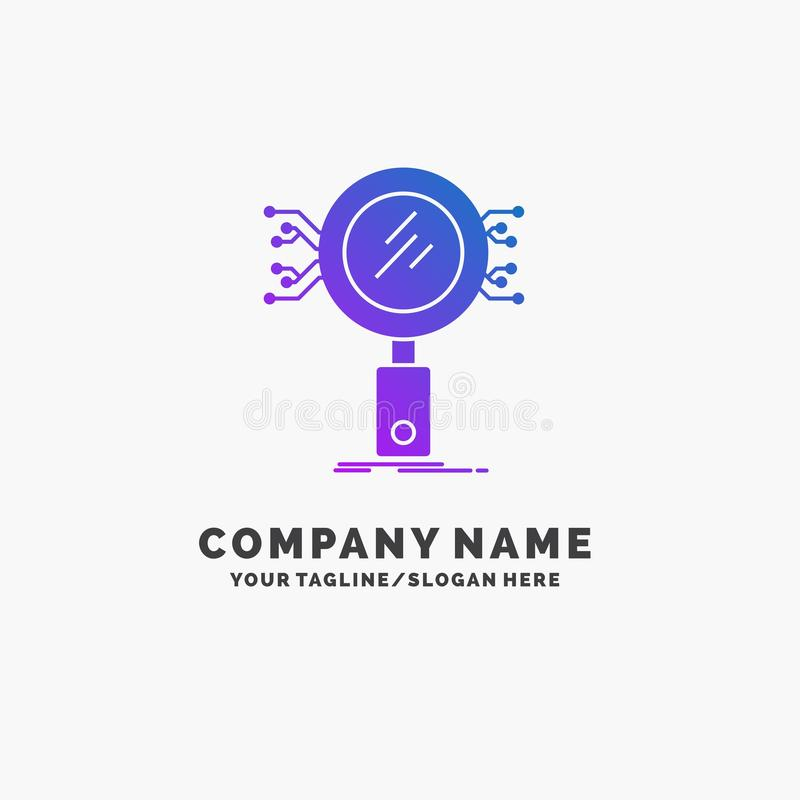 分析,查寻,信息,研究,安全紫色企业商标模板 r 皇族释放例证