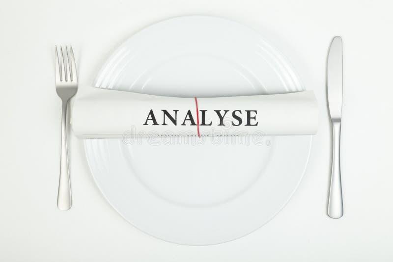 分析(用德语) 免版税库存图片