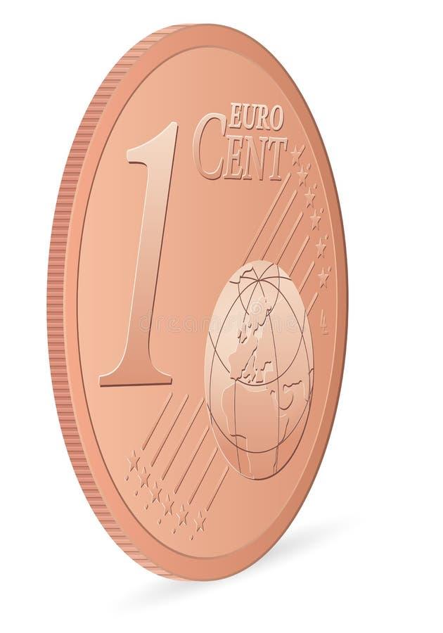 分欧元一 向量例证