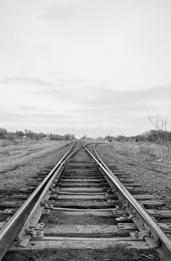 分流的铁路轨道 免版税图库摄影