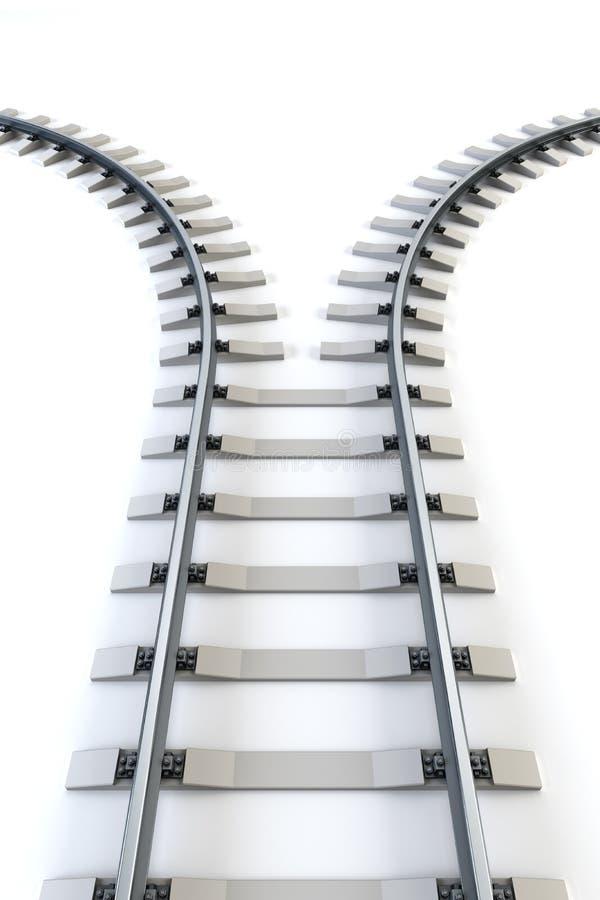 分流的铁路 向量例证