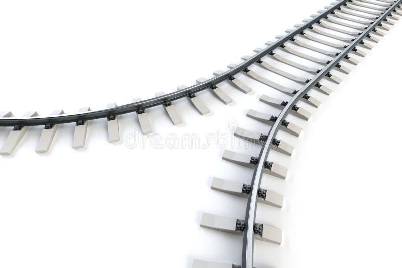 分流的铁路 皇族释放例证