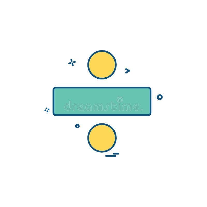 分界象设计传染媒介 向量例证