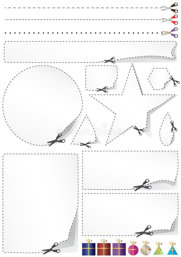 分界eps礼品剪空间 向量例证