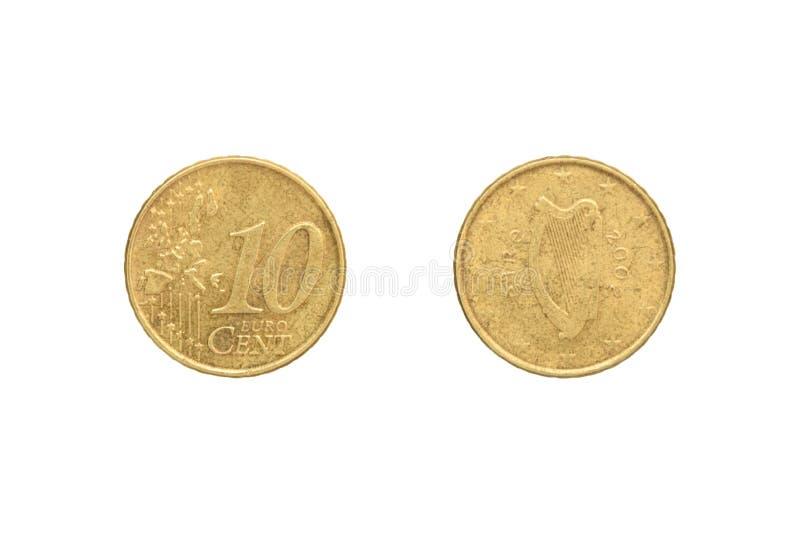 分硬币欧元十 库存照片