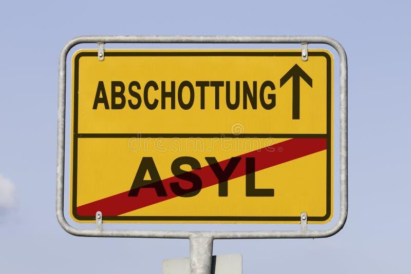 分离向前用德语 库存图片