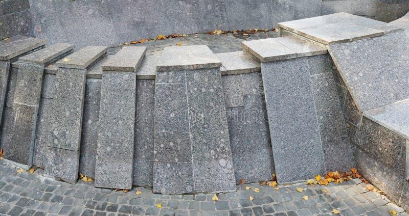 分离的城市喷泉的干燥内部空间 免版税库存图片