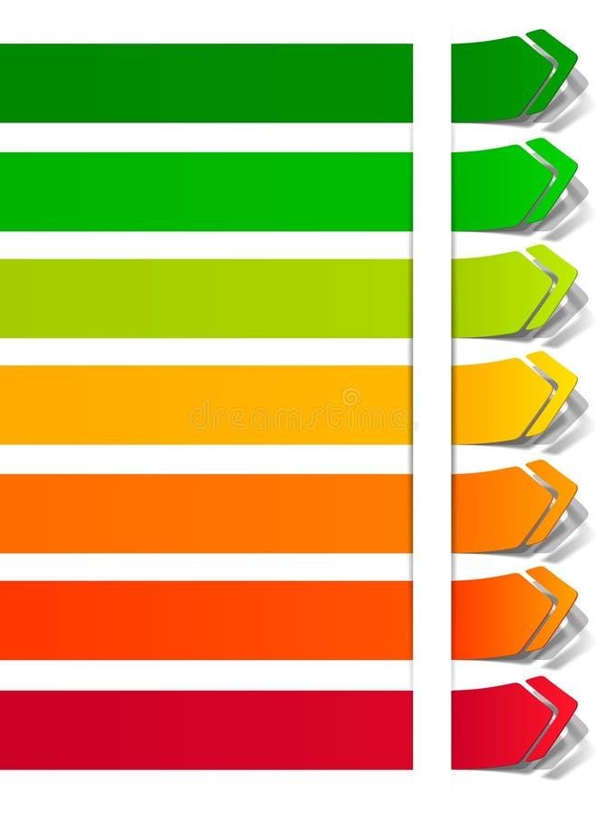 分类能源表单贴纸 库存例证
