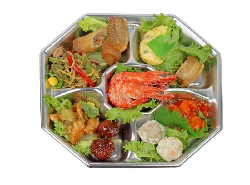 分类虾盘 库存图片