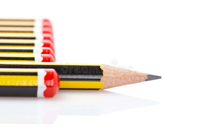 分类铅笔 免版税库存照片