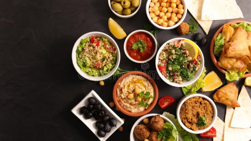 分类黎巴嫩食物 免版税库存照片