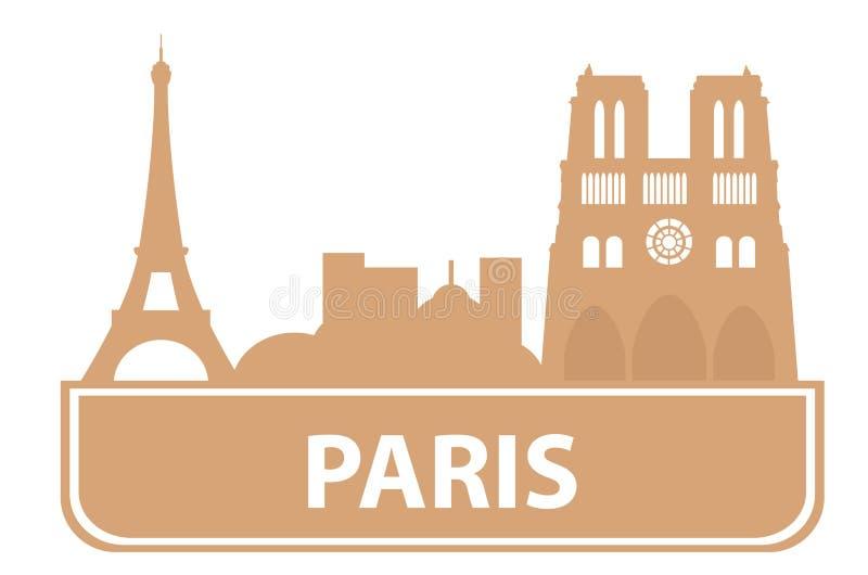 分级显示巴黎 库存例证