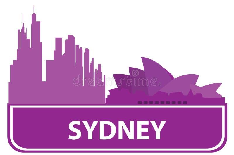 分级显示悉尼 库存例证