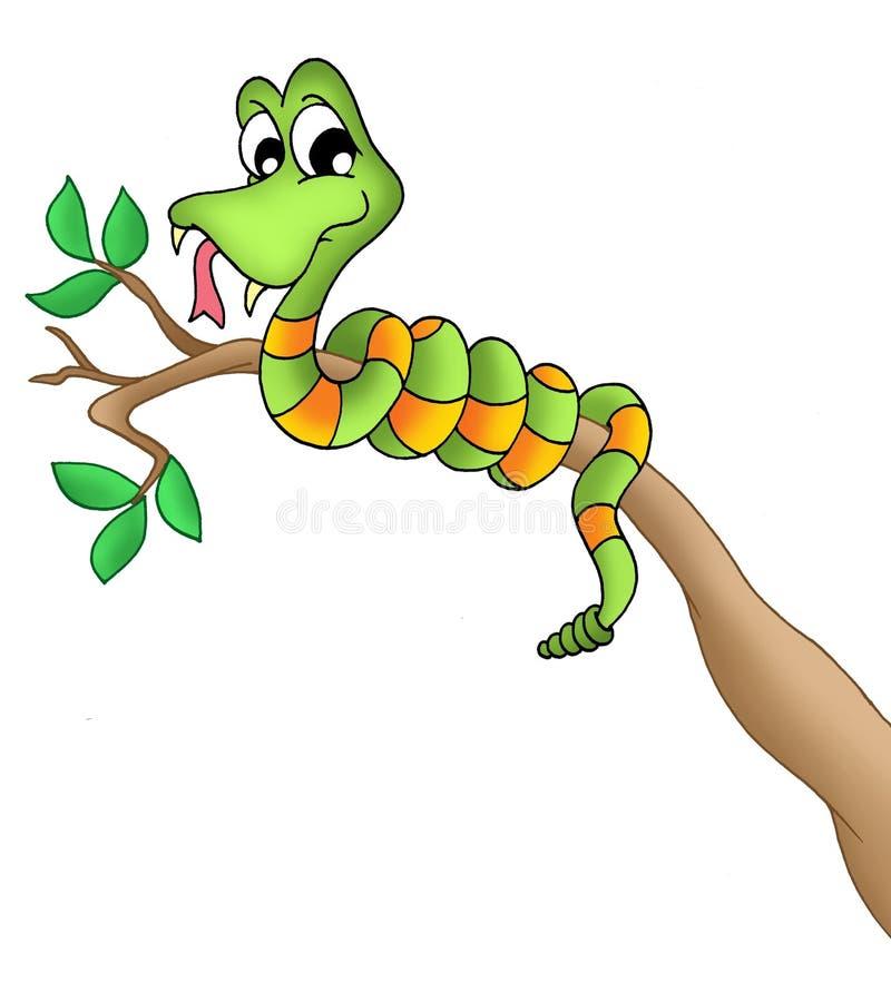 分行蛇 库存例证