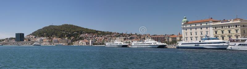分裂口岸,克罗地亚 免版税库存图片