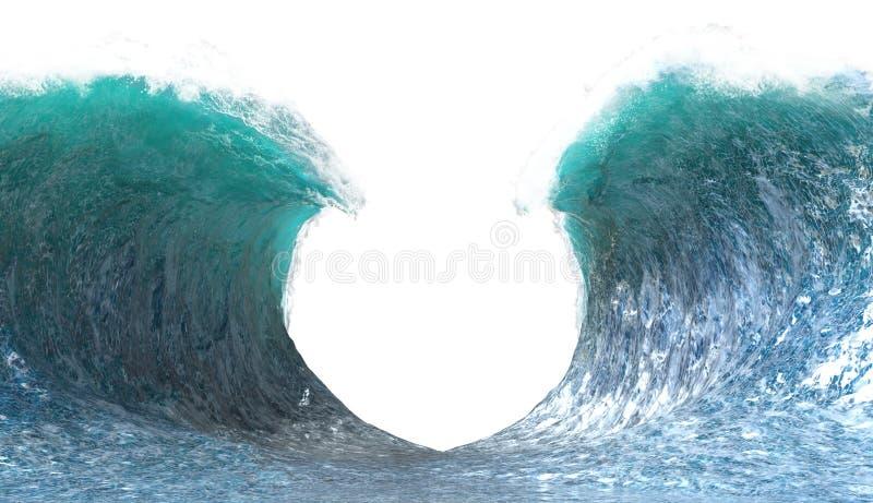 分裂海浪Backgroundm隔绝了,海 免版税库存照片