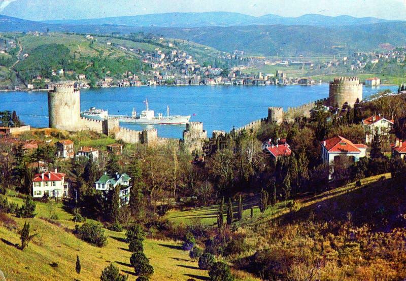 从分裂的VVintage明信片,克罗地亚 免版税库存照片