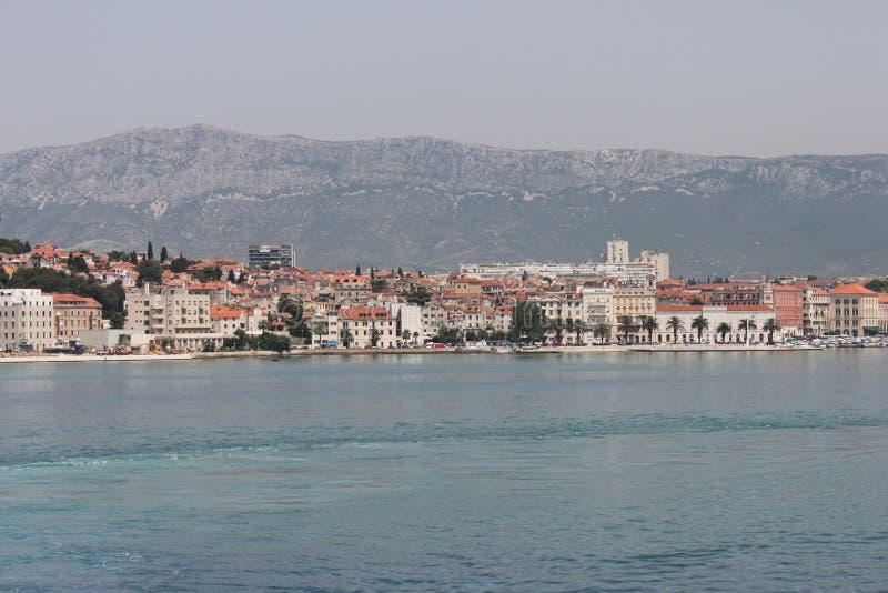 分裂,克罗地亚(分裂从轮渡的看法) 库存照片