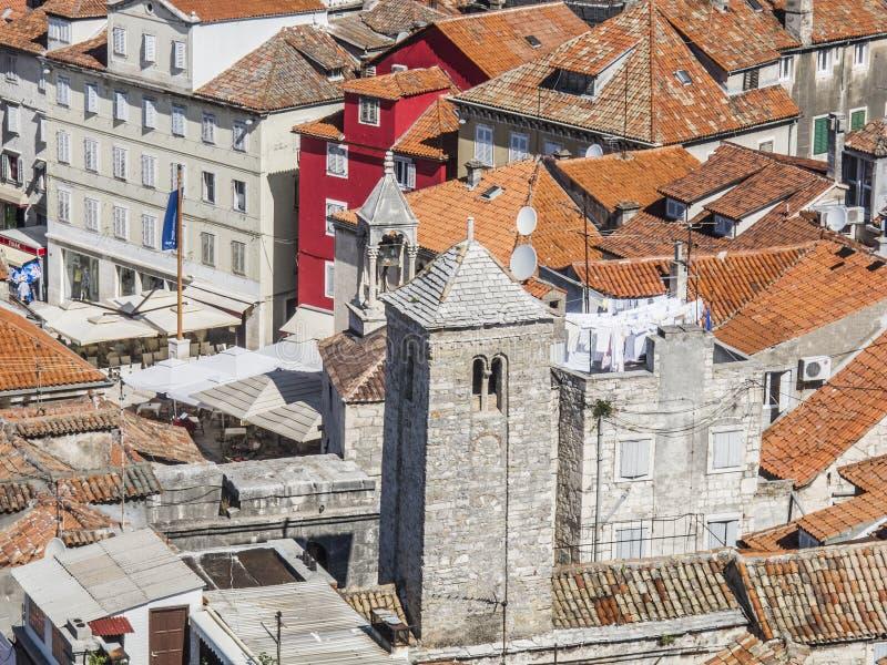 分裂,达尔马提亚,克罗地亚,欧洲,节略 免版税图库摄影