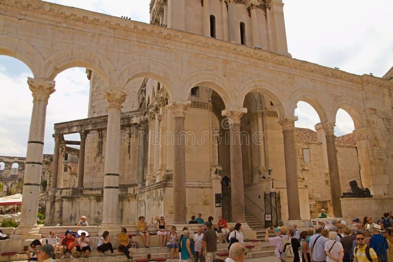 分裂-皇帝Diocletian宫殿  免版税库存图片
