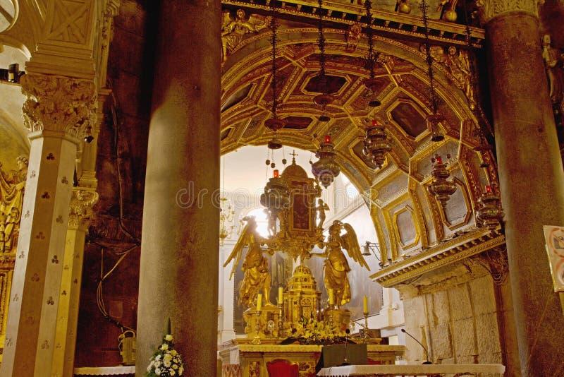 分裂-皇帝Diocletian宫殿  免版税库存照片