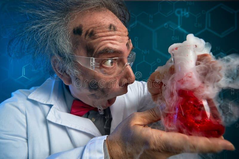 分解的实验疯狂的科学家 库存图片