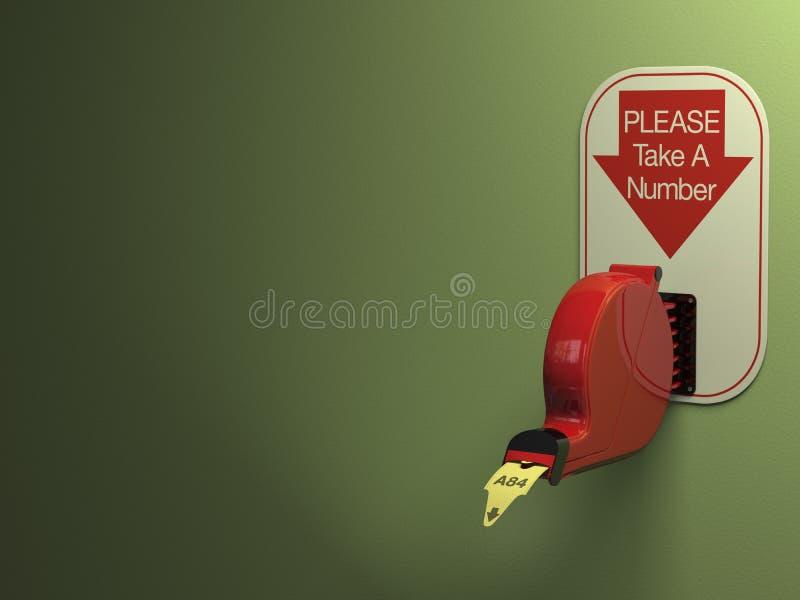 分配器票 向量例证