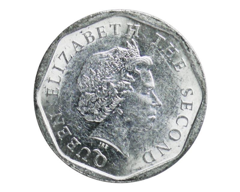 5分铸造,1981~Today -东部加勒比状态循环serie,东部加勒比状态银行  免版税库存照片