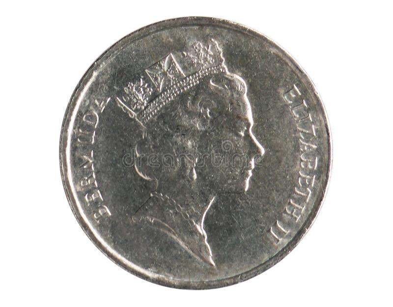 5分铸造,1970~Today -循环-美元serie,百慕达银行 库存图片