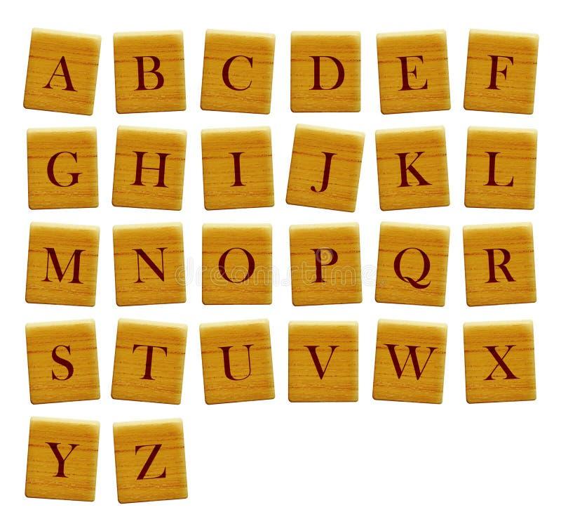 分隔的所有字母表块字母 免版税库存照片