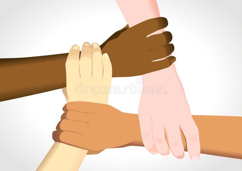 分集团结 向量例证
