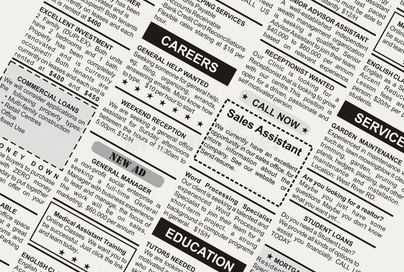 分类广告 免版税库存照片