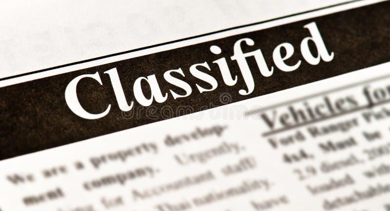 分类广告 免版税图库摄影