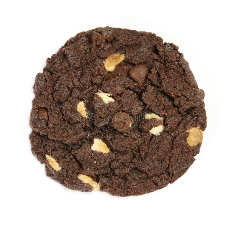 切削巧克力曲奇饼 免版税图库摄影