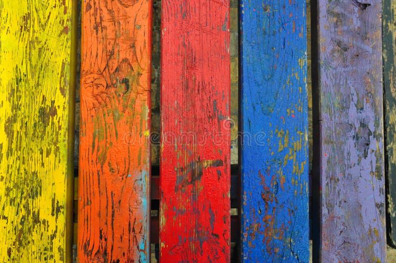 切削的油漆木头纹理 图库摄影