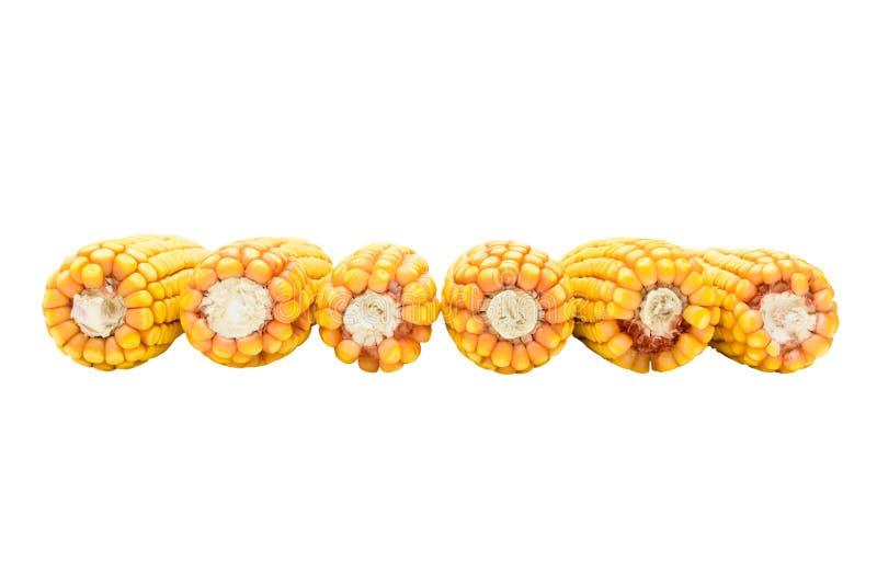 切好的成熟玉米外皮  免版税图库摄影
