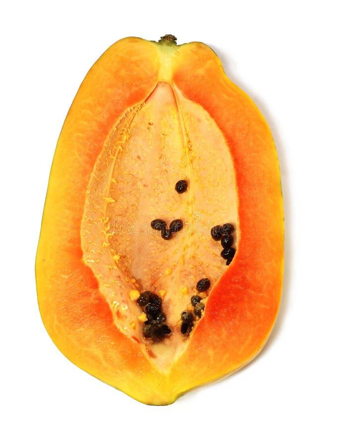 切好的成熟番木瓜 库存图片
