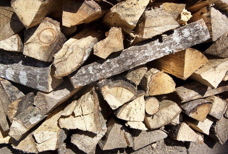 切好的木柴堆 免版税图库摄影
