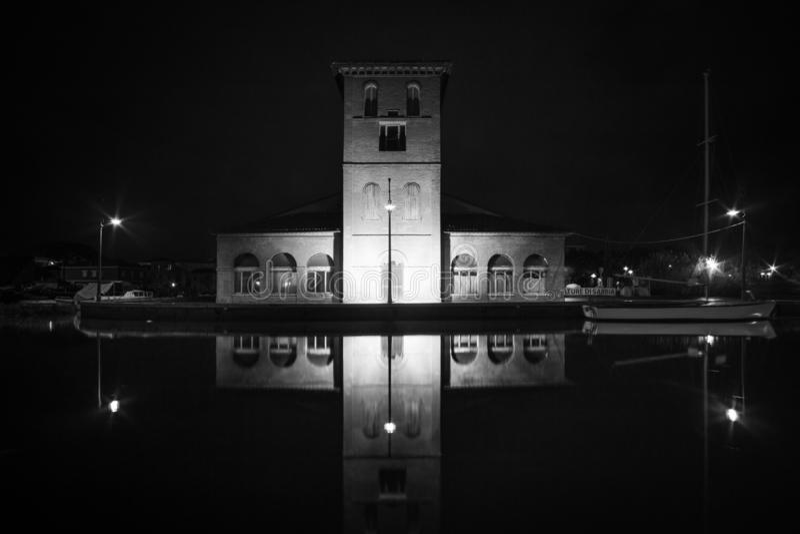 切尔维亚在夜之前 库存照片
