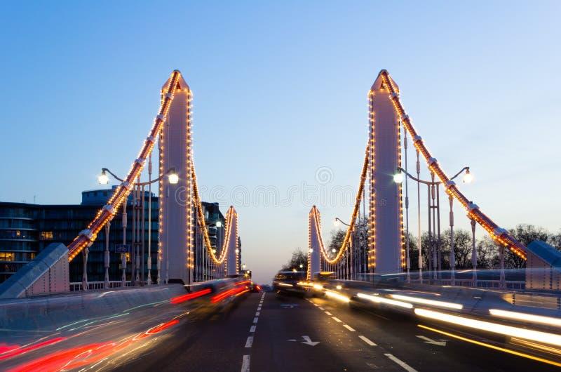 切尔西桥梁和交通 免版税库存图片