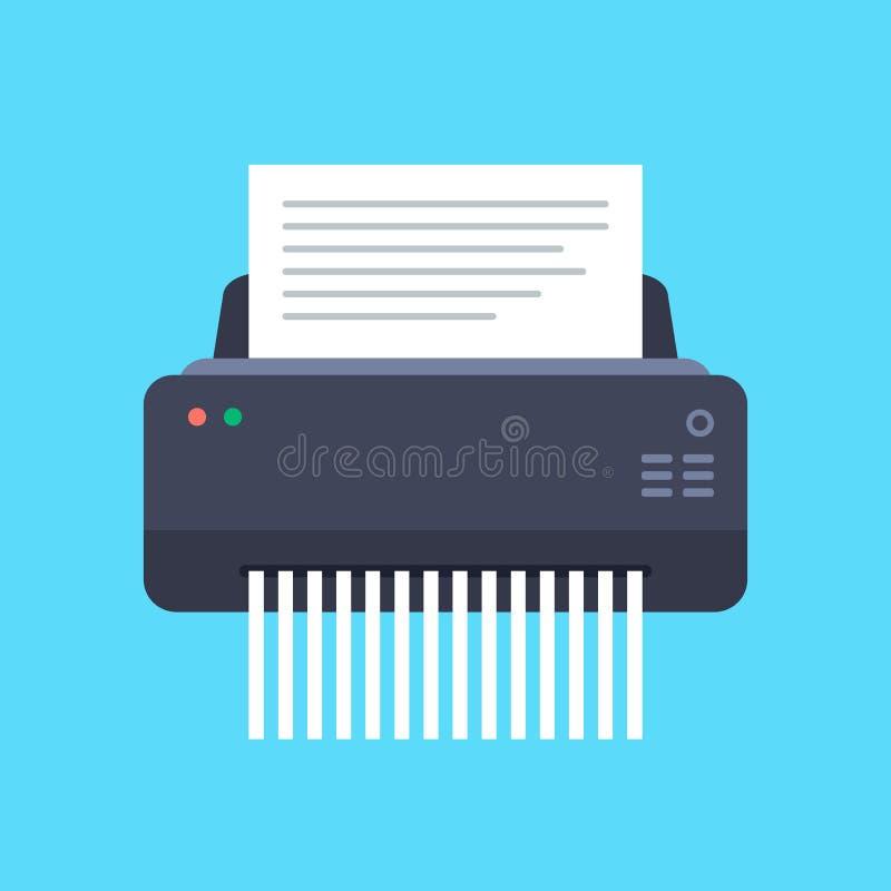 切废纸机机器传染媒介例证 向量例证