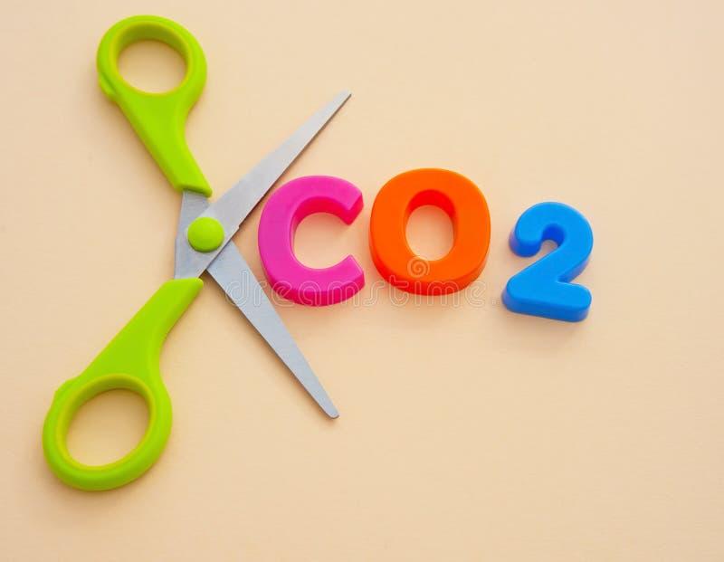 切开二氧化碳 免版税库存图片