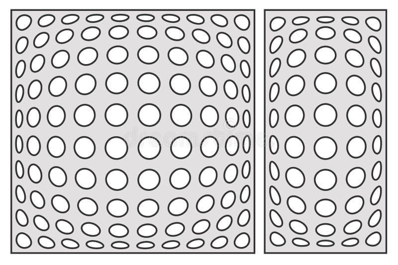 切开的模板 几何圈子样式 激光裁减 设置r 库存例证