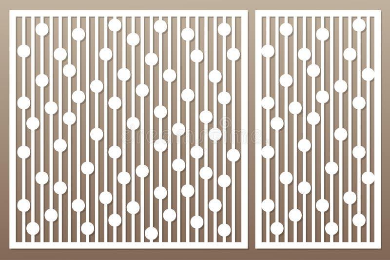 切开的模板 几何线和圈子样式 激光c 向量例证
