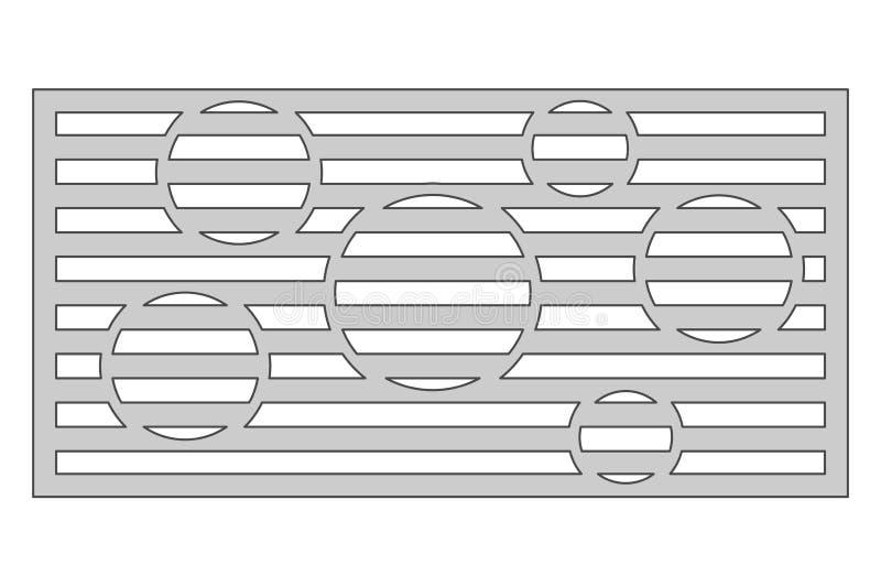 切开的模板 圈子线样式 激光裁减 比率1:2 向量例证