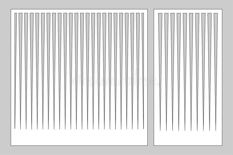 切开的激光或绘图员装饰卡集 样式线盘区 激光裁减 比率1:1;1:2 也corel凹道例证向量 向量例证