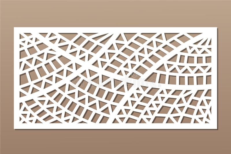 切开的装饰卡片 几何种族样式 激光裁减盘区 比率1:2 也corel凹道例证向量 库存例证