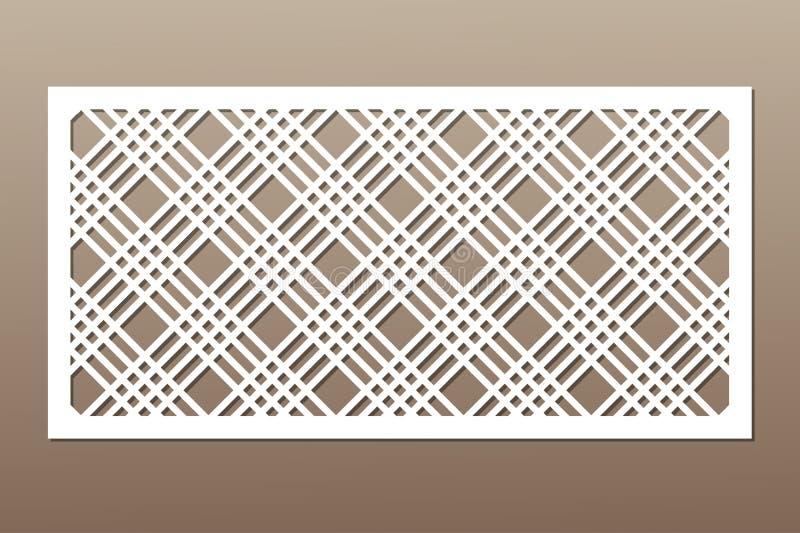 切开的装饰卡片 几何线路模式 激光 向量例证