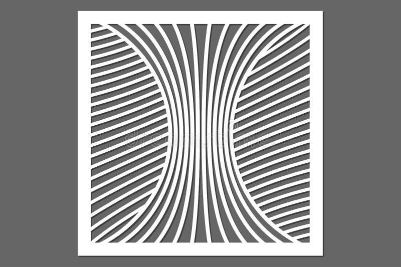 切开的装饰卡片 线路模式 激光裁减 比例 皇族释放例证
