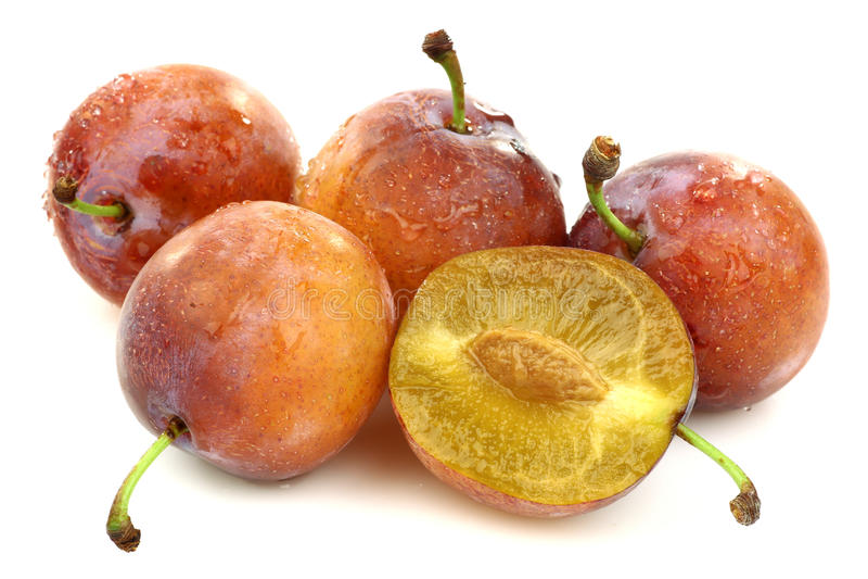 Download 切成熟四个新鲜的一的李子 库存照片. 图片 包括有 果子, 剪切, 词根, 成熟, 红色, 李子, 肉多 - 15697008
